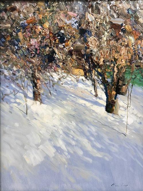 """Картина """"Весенний солнце"""", 50 х 65 см, холст, масло"""