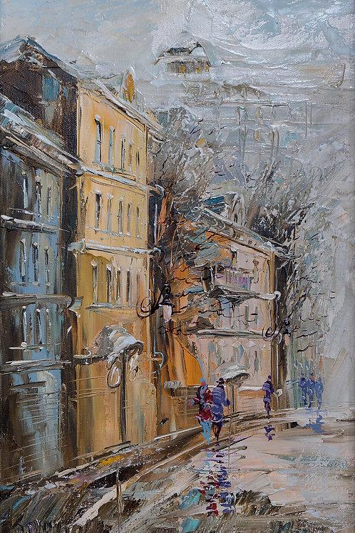 "Картина ""Старая Москва"", 30х50, холст, масло"