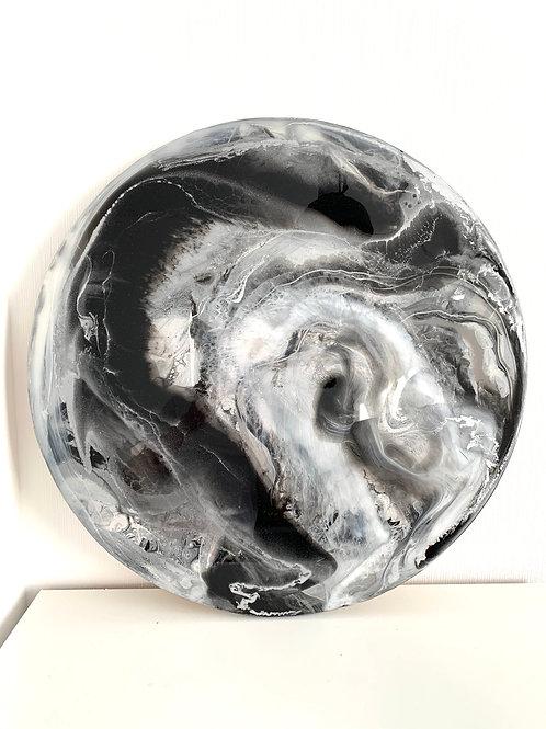 Картина «Иллюзия», д=70 см, акрил, смола