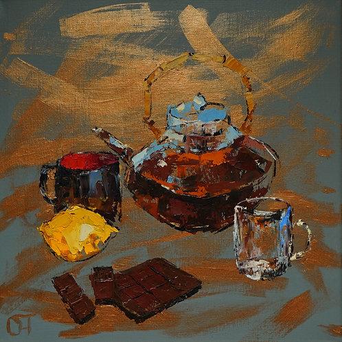 """Картина """"Шоколад"""", холст, масло"""