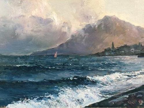 "Картина ""Морской пейзаж"", 0 х 0 см, холст, масло"