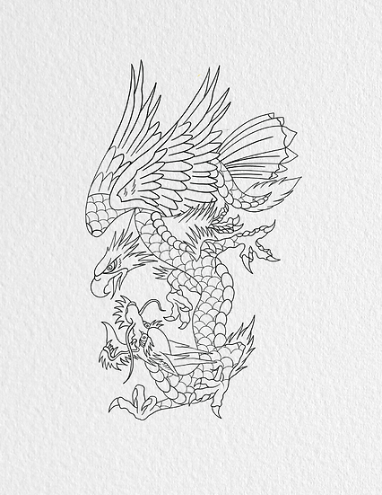 Dragon and Eagle Tattoo