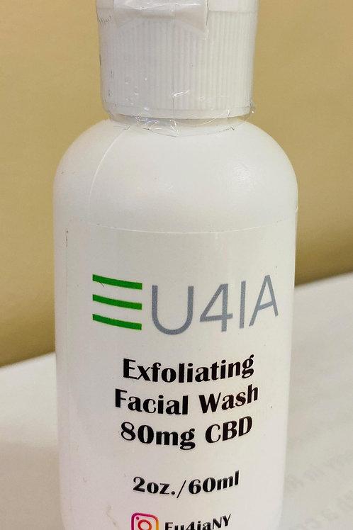 Eu4ia CBD Exfoliating Charcoal Facial Wash