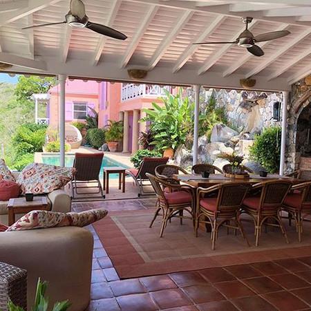 Dining and lounging veranda