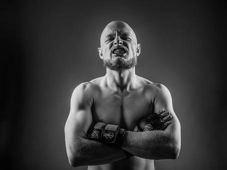 Sports Portrait of MMA fighter Julian Harris.