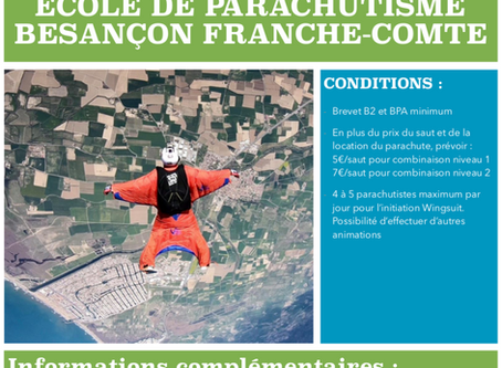 Animation Wingsuit - 20-22 avril 2019