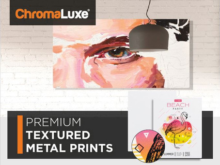 Brand new: ChromaLuxe Textured Metal Prints