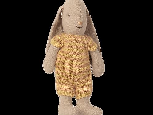 Maileg Micro Bunny - Yellow Stripe
