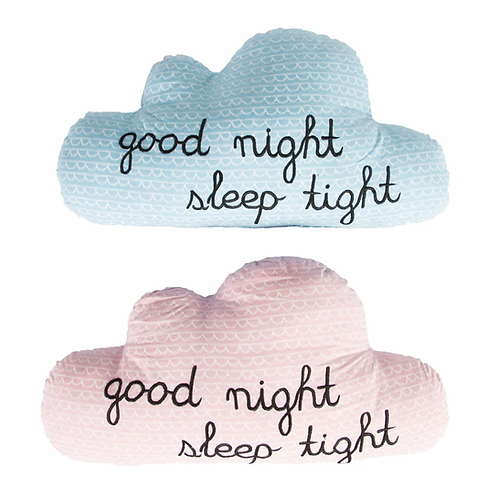 Good Night Sleep Tight Cloud cushion - Pink
