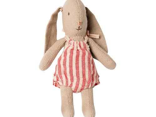 Maileg Micro Bunny - red stripe