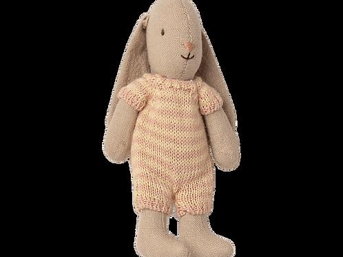 Maileg Micro Bunny - Pink stripe