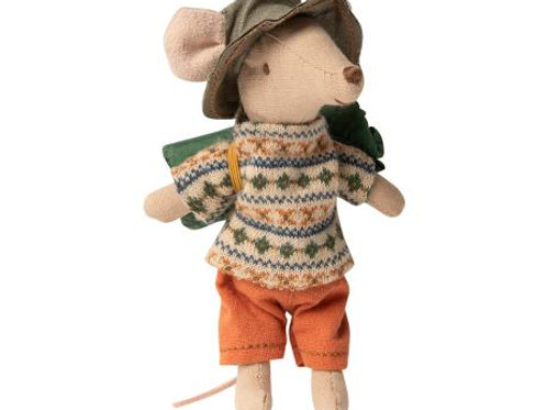 Maileg Hiker Boy Mouse - Big Brother with sleeping bag