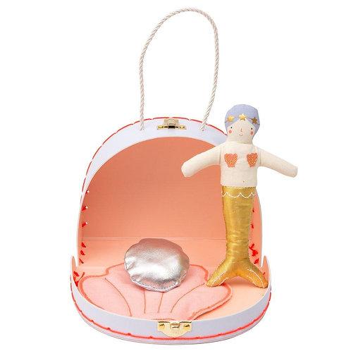Mermaid Mini Suitcase Doll - Meri Meri
