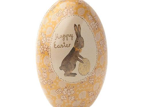 Maileg Easter Egg tin - yellow / gold