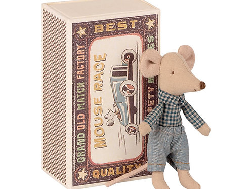 Maileg Mouse Little Brother in a Matchbox
