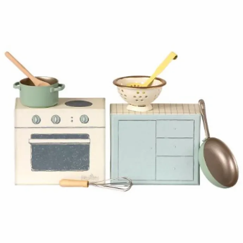 Maileg Cooking set with Utensils