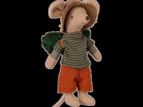 Maileg Hiker Boy Mouse - Big Brother with sleeping bag