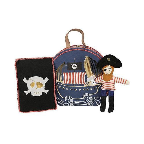 Pirate Mini Suitcase Doll - Meri Meri