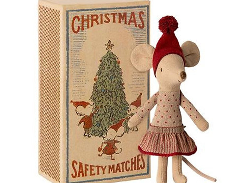 Maileg Christmas Mouse in Matchbox - Big Sister