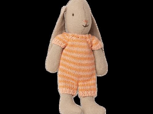 Maileg Micro Bunny - Orange Stripe
