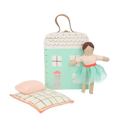 Lila Mini Suitcase Doll - Meri Meri