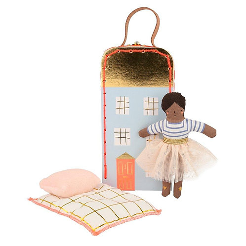 Ruby Mini Suitcase Doll - Meri Meri