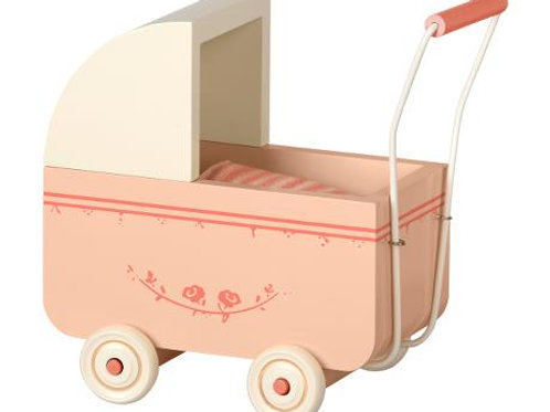 Maileg pink Pram  - Micro