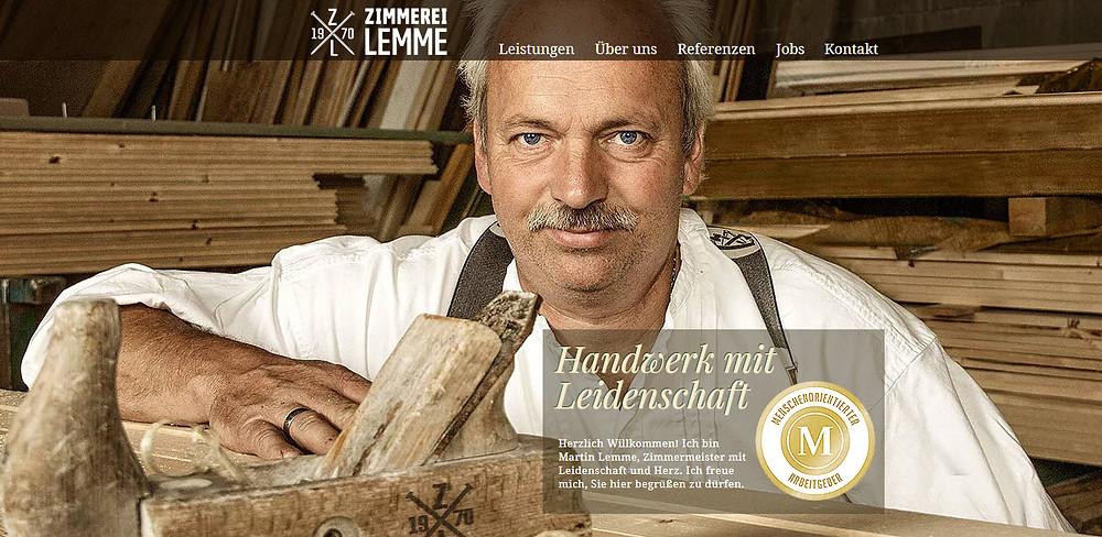 Karrierewebseite der Zimmerei Lemme aus Neu Wulmsdorf