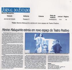 Menino Maluquinho estreia em novo espaço do Teatro Positivo