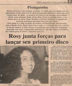 Rosy junta forças para lançar seu primeiro disco
