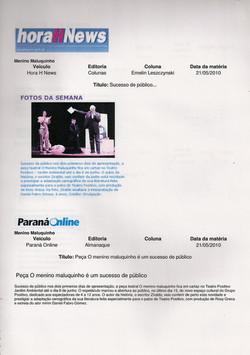 HoraH News / Paraná Online, 2010