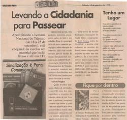 Levando a cidadania para passear, Gazeta do Povo, 1999