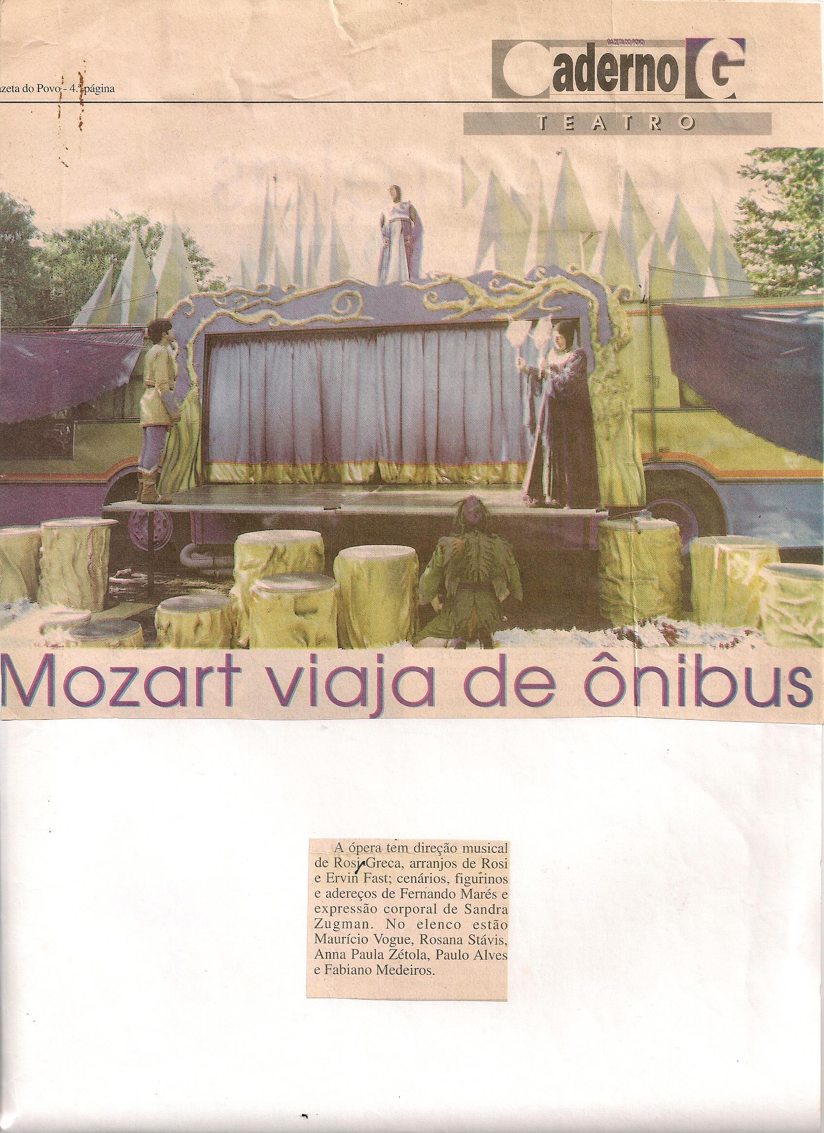 Mozart viaja de ônibus