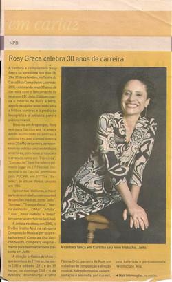 Rosy Greca celebra 30 anos de carreira