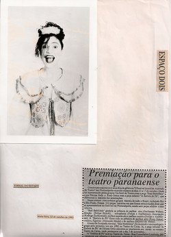 Premiação para o teatro paranaense, Jornal do Estado, 1993