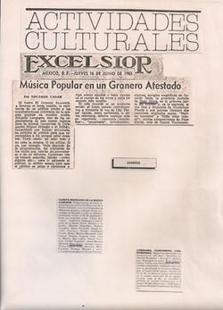 Excelsior, 16 de Junho de 1983