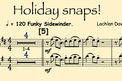 Holidays snaps for any sax and piano