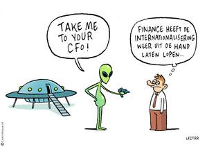 Als het buitenland wenkt, waakt finance