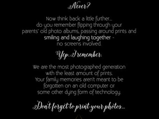 Don't Forget to Print Your Photos