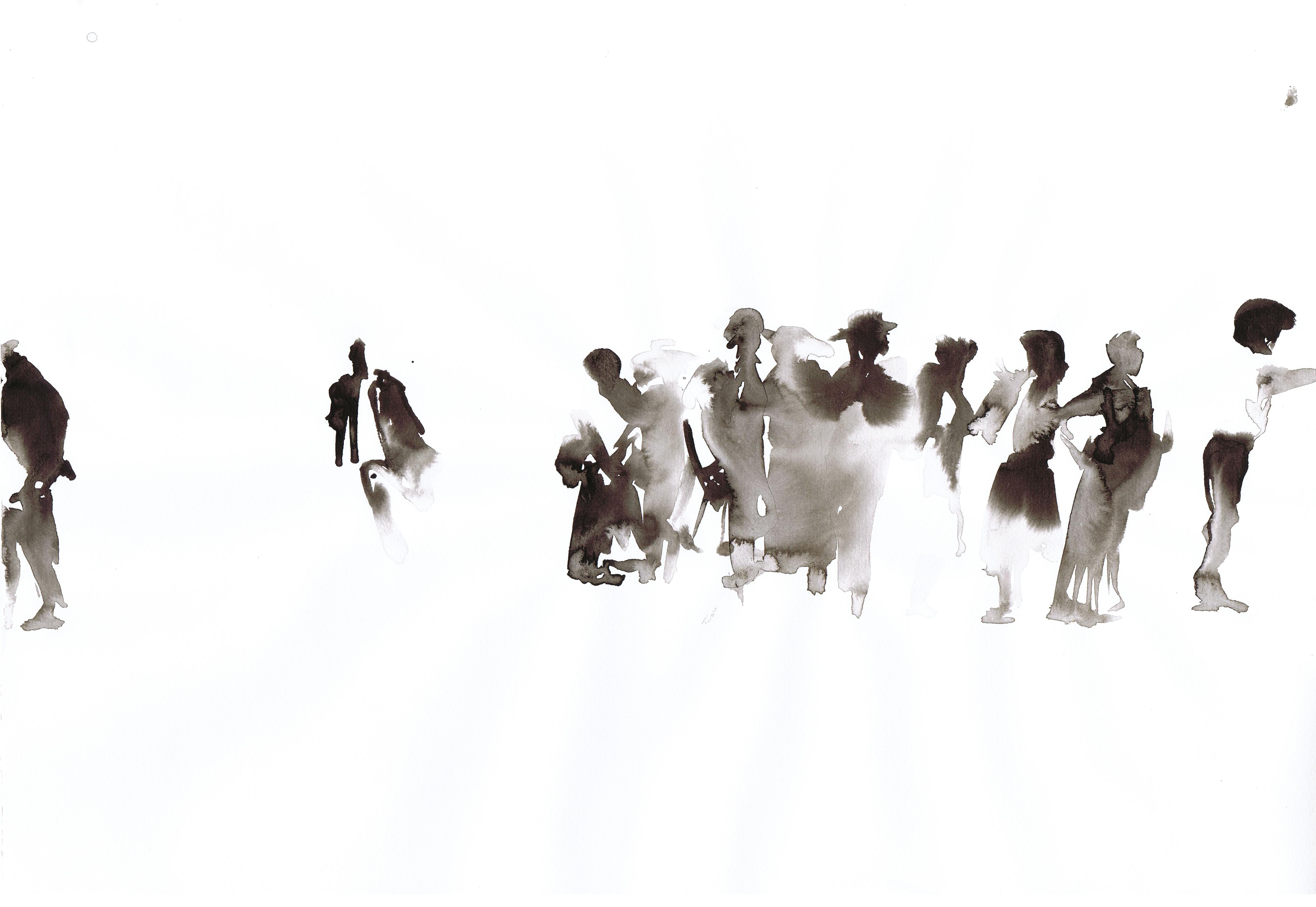 wanderings | ink on paper | 30/42 cm