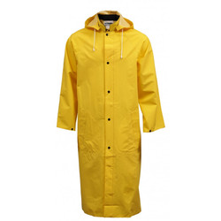 Yellow Rubberised Rain Coat2