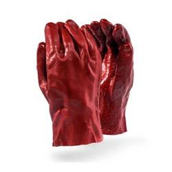 Red PVC Heavy Duty Open Cuff Glove