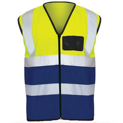 Reflective Vest – 2 Tone EN2, _Lime_&_Blue