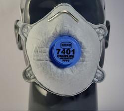 Greenline #7401 FFP2V Valved Masks