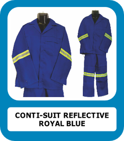 Royal Blue 2PC Conti Suit with reflective