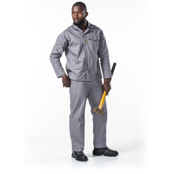 Polycotton 65-35 Grey 2PC Conti Suit