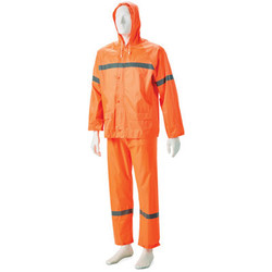 High Viz 2 Piece Rubberised Rain Suit -