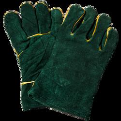 Gloves, Green-Lined Leather Welders Glov