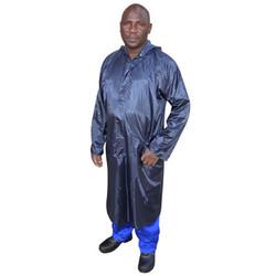 Navy Rubberised Rain Coat