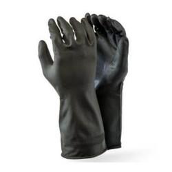 Black Builders Rubber Glove